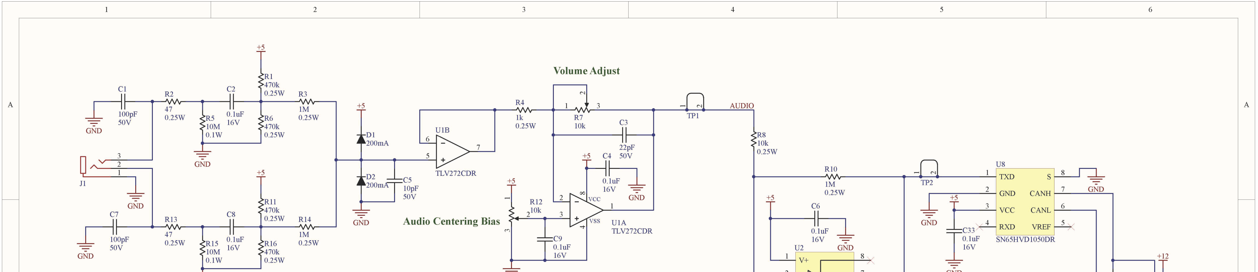 Detailed schematic 1 of 2 for my tesla coil audio driver (click for full image)